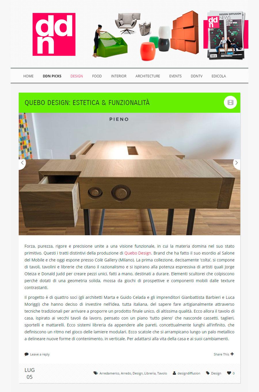 QUEBO Design Diffusion